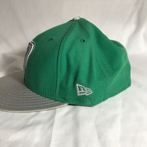 New Era Accessories - Green and silver New Jersey Fitted cap 1a159066b